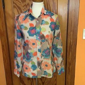 Vintage 70s boho hippie chic flower child shirt